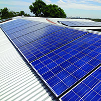 Zep solar panels on roof